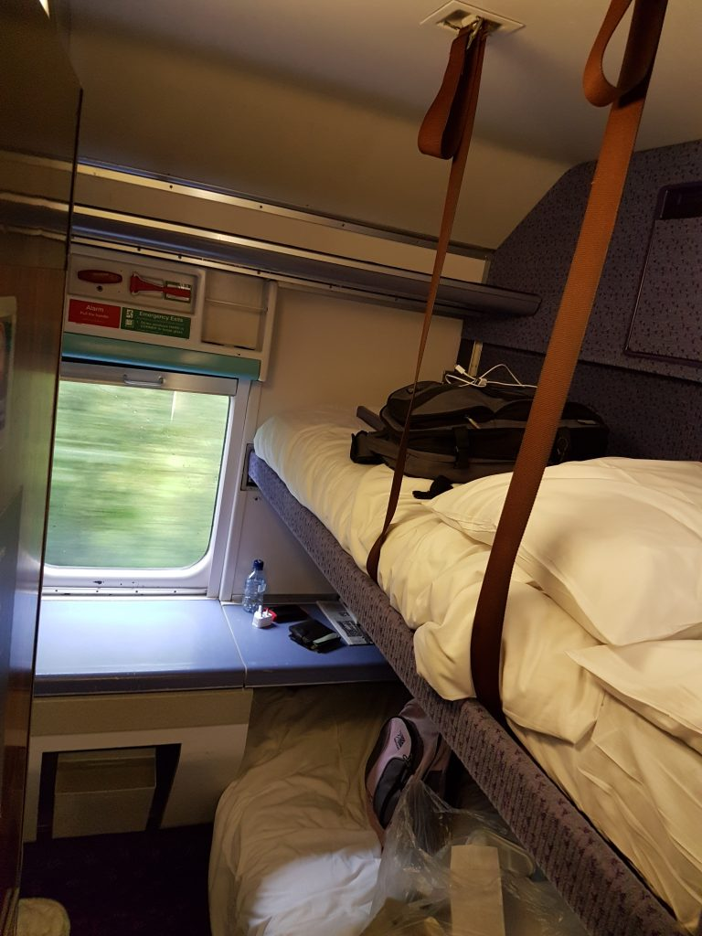 Caledonian Sleeper Train bunks