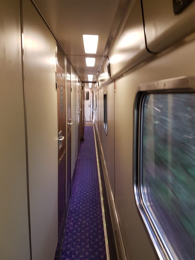 Caledonian Sleeper Train corridor