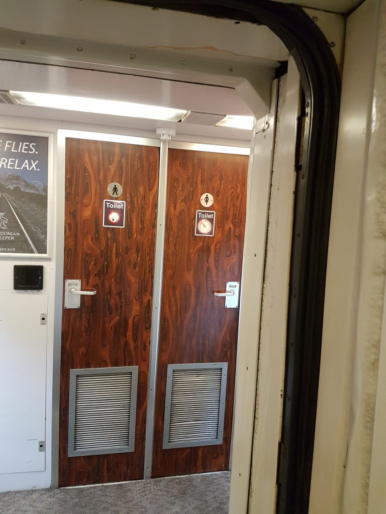 Caledonian Sleeper Train toilets