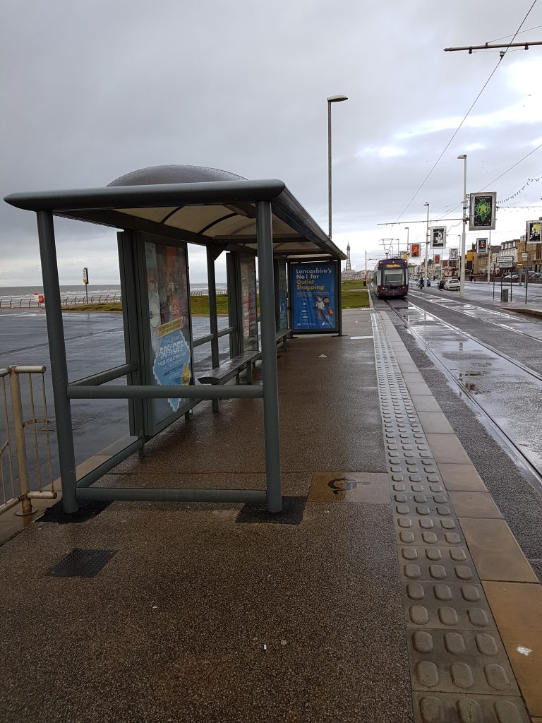 Blackpool tram stop