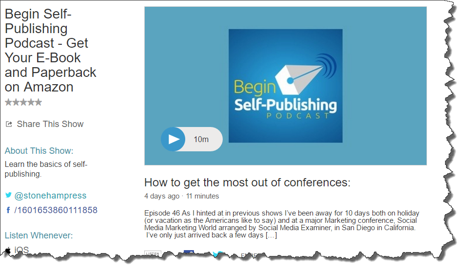 Begin self-publishing podcast
