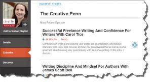 The Creative Penn podcast